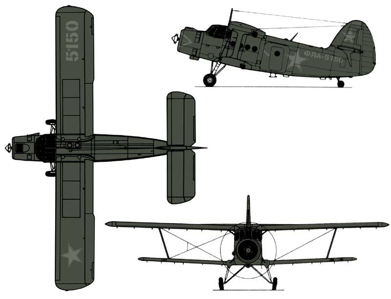 раскраски старичка Ан-2